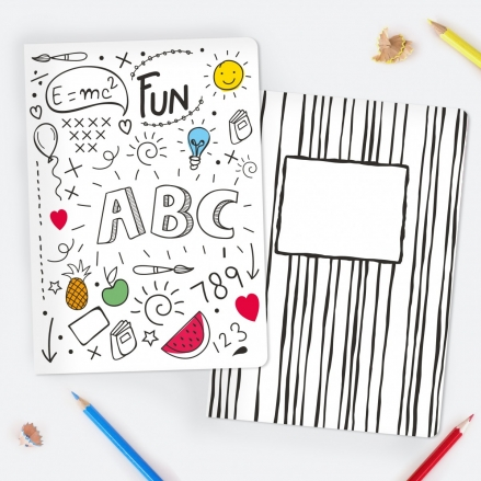 Kids ABC Colour Me In - A5 Exercise Books - Pack of 2