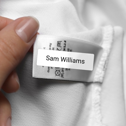 No Iron, Personalised Stick On School Uniform/Equipment Name Labels - Pack of 56