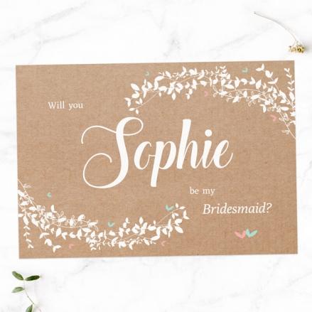 Will You Be My Bridesmaid? - Kraft Woodland Foliage