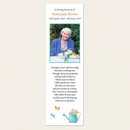 Funeral Bookmark - Ladies Gardening