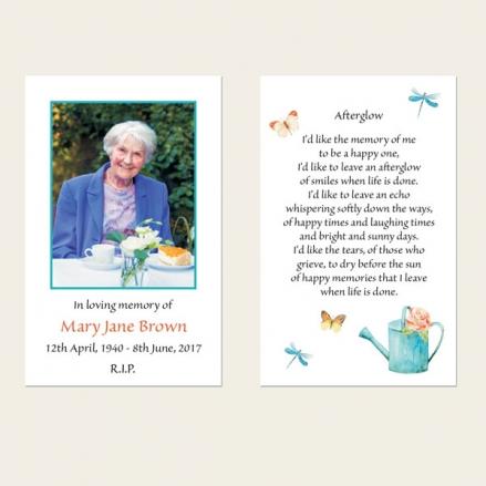Funeral Memorial Cards - Ladies Gardening