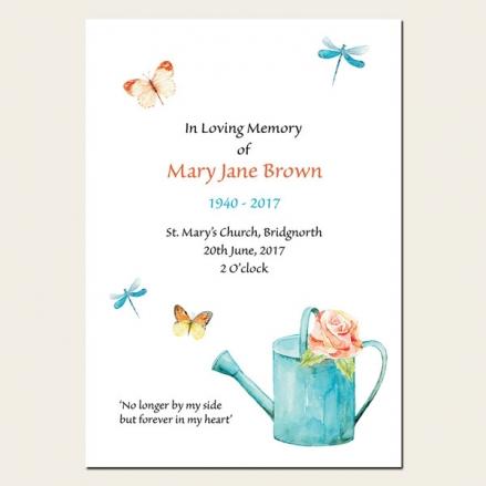 Funeral Order of Service - Ladies Gardening