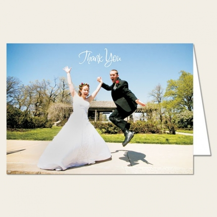 Wedding Thank You - Add Your Own Photo - A6 Landscape