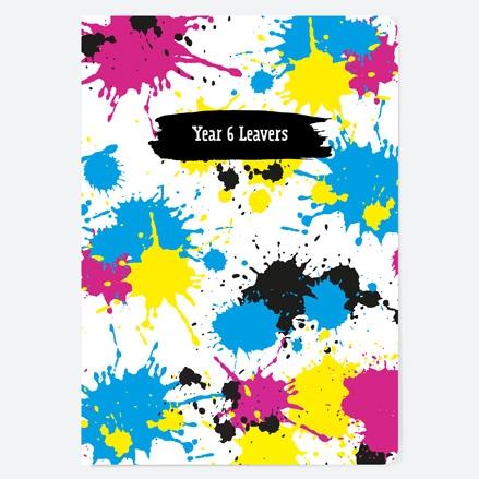 Paint Splatters - Year 6 - A5 School Leavers Book