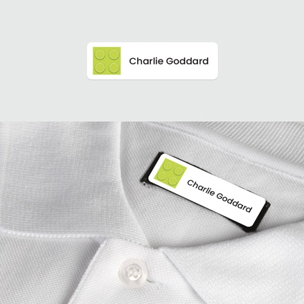 No Iron Small Personalised Stick On Waterproof (Clothing) Name Labels Building Block Green Mixed Pack of 60 thumbnail