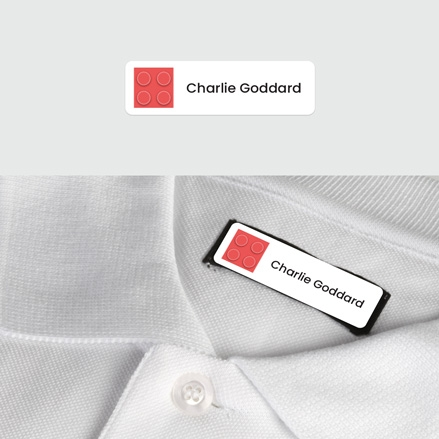 No Iron Small Personalised Stick On Waterproof (Clothing) Name Labels Building Block Red Mixed Pack of 60 thumbnail