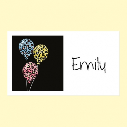 Leopard Print Balloons - Party Sticker - Pack of 10