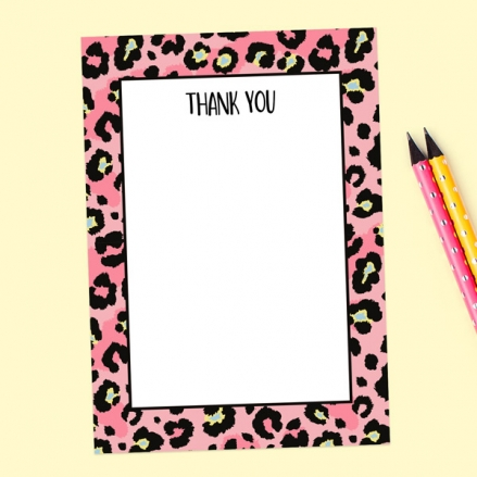 Ready to Write Thank You Cards - Leopard Print Party - Pack of 10