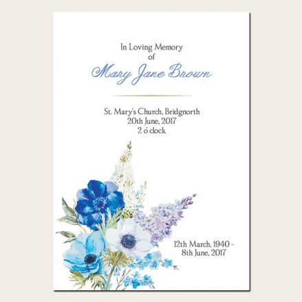 Funeral Order of Service - Lilac Flowers