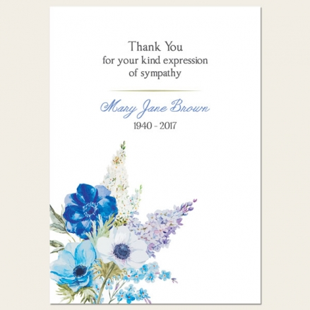 Funeral Thank You Cards - Lilac Flowers