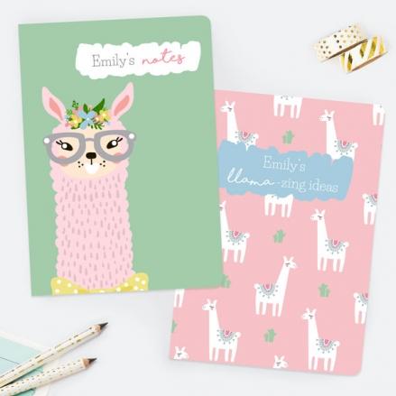 llama-drama-personalised-exercise-books