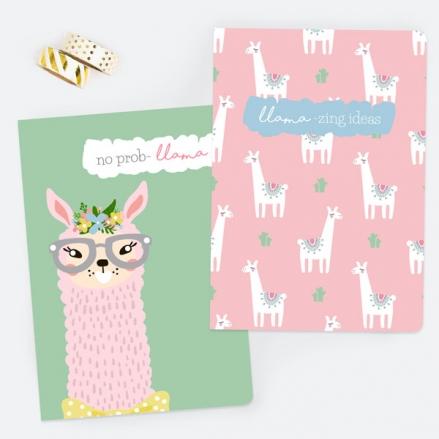 Llama Drama - A5 Exercise Books - Pack of 2