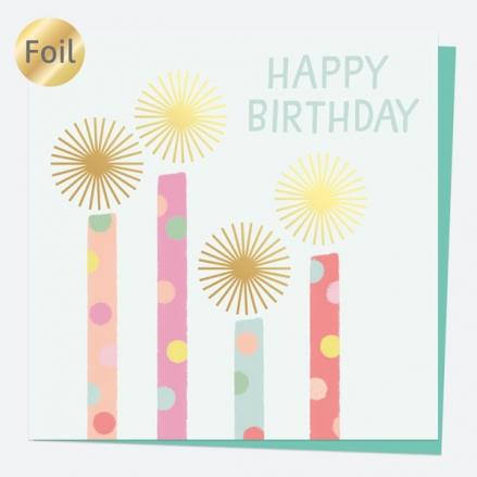 Luxury Foil Birthday Card - Sweet Spot Candles - Happy Birthday