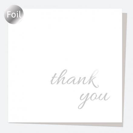 Luxury Foil Thank You Card - Silver Elegance - Thank You