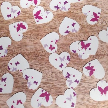 Summer Butterflies - Heart Table Confetti