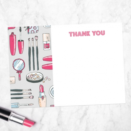 Ready to Write Kids Thank You Cards - Make Up Pamper Party