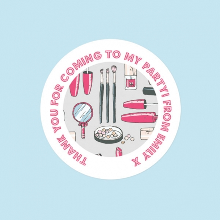 Make Up Pamper Party - Sweet Bag Stickers - Pack of 35
