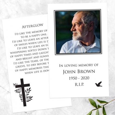 funeral-memorial-cards-cross-flying-bird-photo