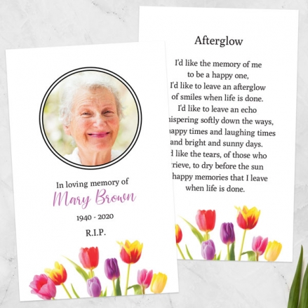 Funeral-Memorial-Cards-Bright-Tulips-Photo