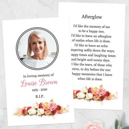 Funeral-Memorial-Cards-Classic-Roses-Photo