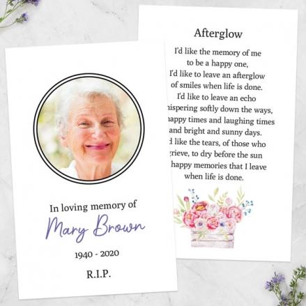 Funeral-Memorial-Cards-Vintage-Garden-Flowers-Photo