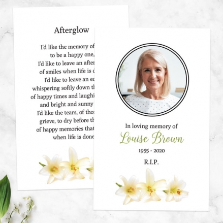 Funeral-Memorial-Cards-White-Lilies-Photo