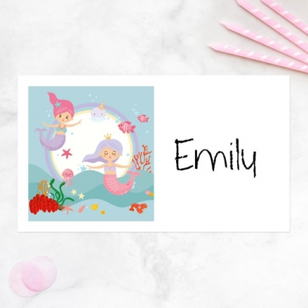 Mermaid Party - Party Sticker - Pack of 10