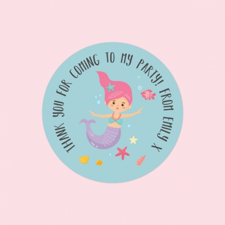 Mermaid Party - Sweet Cone Stickers - Pack of 35