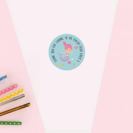 Mermaid Party - Sweet Cone Bag & Sticker - Pack of 35