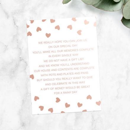 Metallic Hearts - Foil Gift Poem Cards