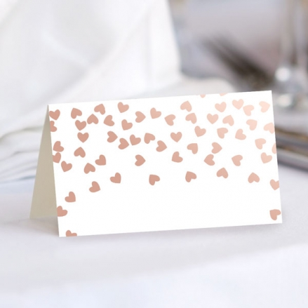 Metallic Hearts - Foil Ready to Write Wedding Place Cards