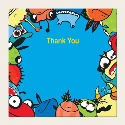 Ready to Write Kids Thank You Cards - Monsters & Aliens