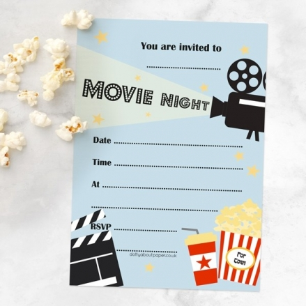 Ready To Write Teen Party Invitations - Movie Night
