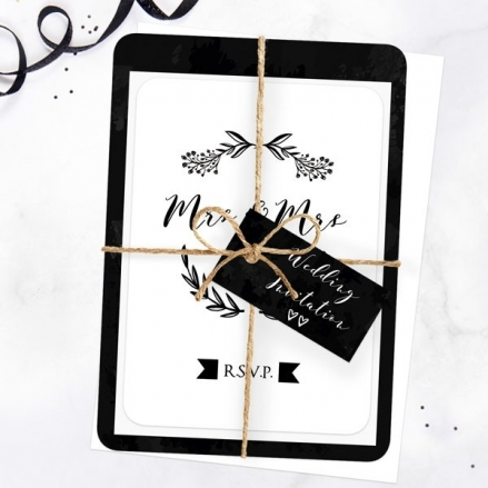 Mrs & Mrs Floral Chalkboard Ready to Write Sample