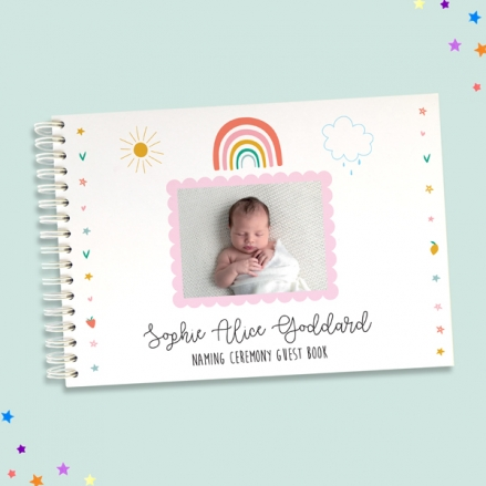Chasing-Rainbows-Naming-Ceremony-Guest-Book-Use-Your-Own-Photo