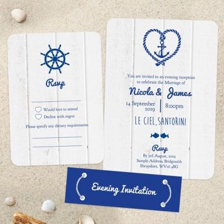 Nautical Heart & Anchor - Boutique Evening Invitation & RSVP