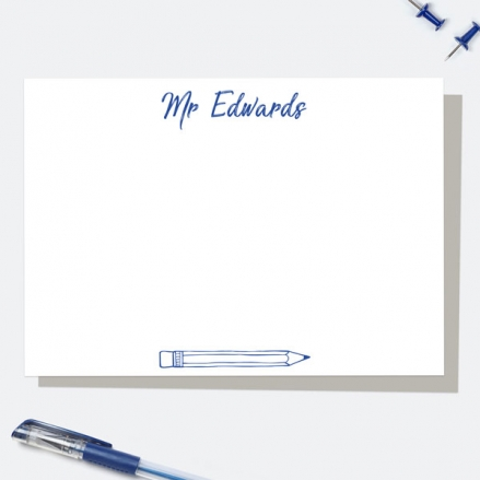 neat-pencil-blue-personalised-note-card
