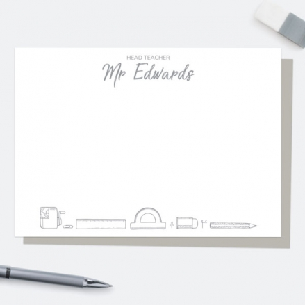 neat-stationery-collage-grey-personalised-a6-note-card