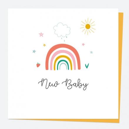 New Baby Card - Chasing Rainbows - New Baby