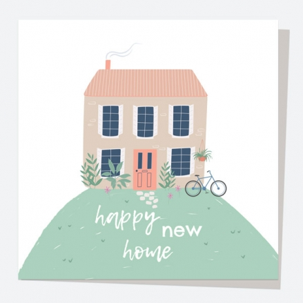 New Home Card - Home On A Hill - Happy New Home