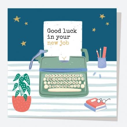 New Job Card - Typewriter - Good Luck