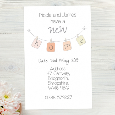 Address Cards - New Home Bunting - Pack of 10