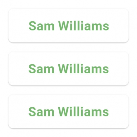 office-work-personalised-name-labels-green-text