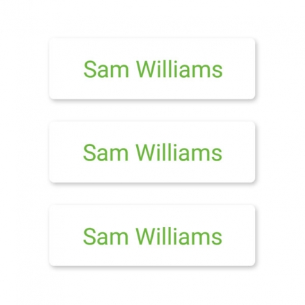 office-work-small-personalised-name-labels-green-text