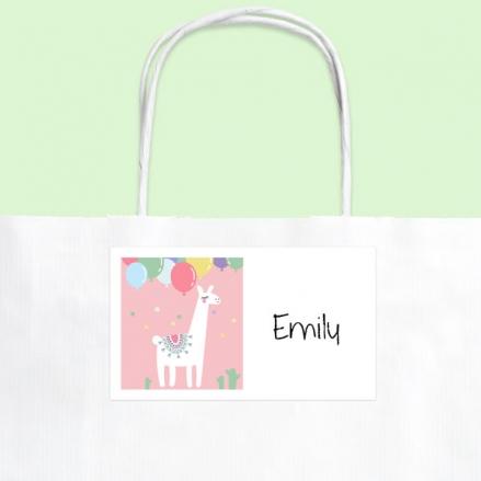 Ooh La Llama - Party Bag & Sticker - Pack of 10