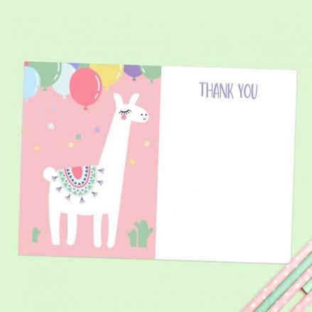 Ready to Write Kids Thank You Cards - Ooh La Llama