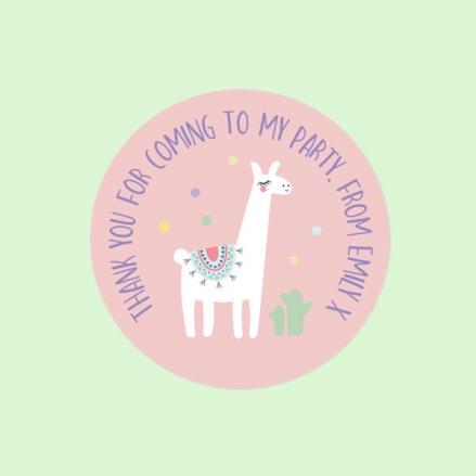 Ooh La Llama - Sweet Cone Stickers - Pack of 35