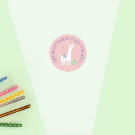 Ooh La Llama - Sweet Cone Bag & Sticker - Pack of 35