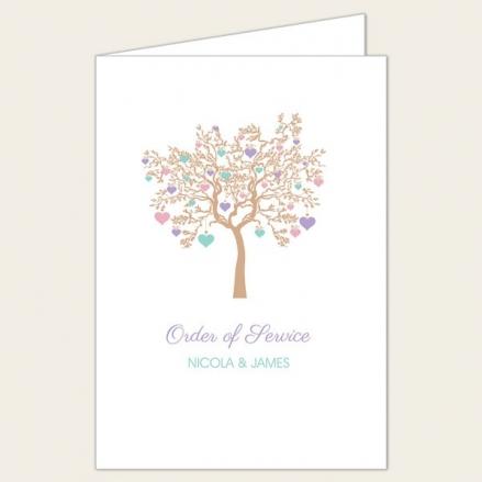 Love Tree - Wedding Order of Service
