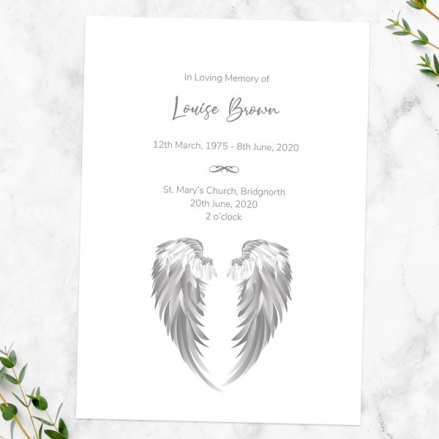 funeral-order-of-service-angel-wings
